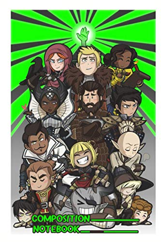 Dragon Age Inquisition Notebook: (110 Pages, Lined, 6 x 9)