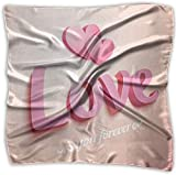 Realistic Pink Love Sign With Hearts Women's Square Scarf Headdress Multi-Purpose Fashion Scarves