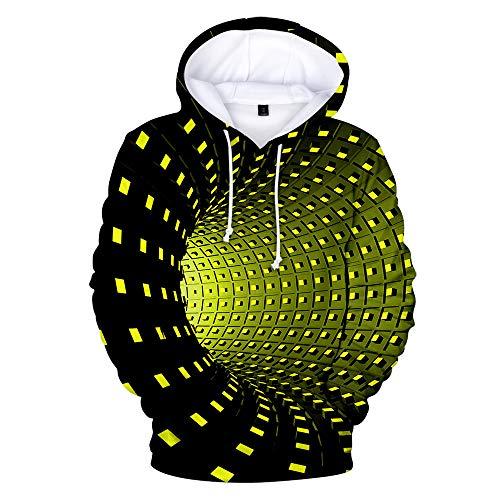 x8jdieu3 Herbst und Winter Neue kreative Farbe Bunte Strudel lässig 3D Digitaldruck Kapuzenpulli Sweatshirt-Shirt