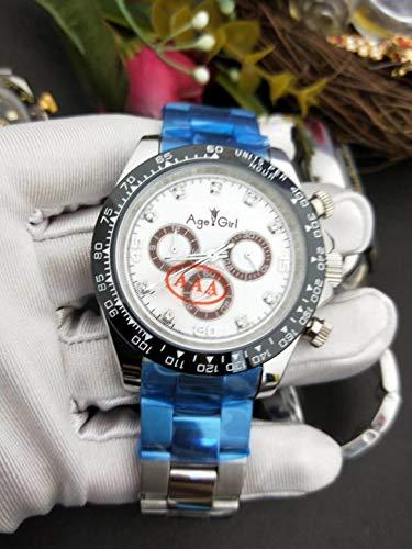 PLKNVT Luxury Herrenuhr Sapphire Rose Gold Schwarz Weiß Edelstahl Automatische Mechanische Herren Daytona Style Uhren4