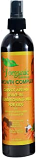 J'Organic Solutions Carrot Argan Kids Leave-in Conditioning Milk Detangler with Jamaican Black Castor, Coconut Oil & More