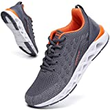 Tennis Shoes for Men Grey Running Shoes mesh Breathable Comfort Cross Trainer runenr Gym Workout Sport Athletic Walking Jogging Shoe Size 12