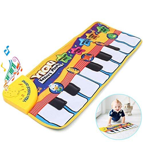 Amison Kinder Musikteppich, Musikmatte, Keyboard Teppich, Klaviermatte Tiermuster für Beste Kinder Baby Spielzeug Geschenk