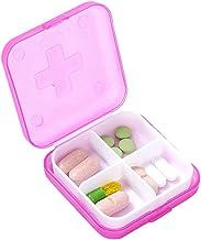 LOKOER 4 kratkowe pudełko medyczne mini plastikowa kratka podajnik biżuterii pudełko do przechowywania do domu w podróży