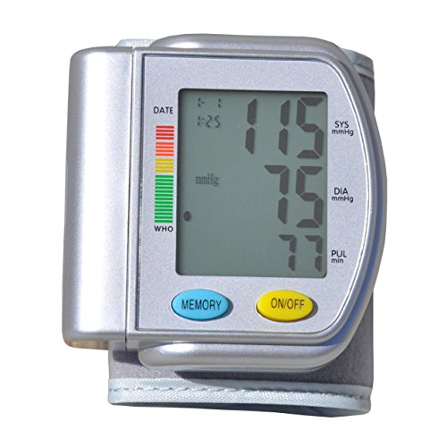Blue Jay Wrist Blood Pressure Unit - Portable Sphygmomanometer for Clinically Accurate Reading - Digital Blood Pressure Measuring Device. Medical Supplies