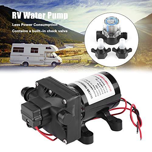 Wasserpumpe, 12 V DC Selbstansaugende Wasserpumpe für RV Caravan, Einstellbarer Schalter mit Rückschlagventil, 55 psi / 3,8 bar, 3 GPM / 11.4LPM