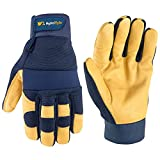 Wells Lamont Men's Leather Palm Work Gloves | Heavy Duty, Form Fitting for Improved Dexterity | Made with Water-Resistant HydraHyde, Extra Large (320XL)