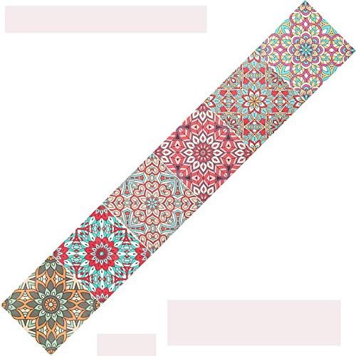 Cenefas decorativas para pared Mandala rojo 3DPVC Autoadhesivo impermeable Border decorativo para pared cocina15X300CM