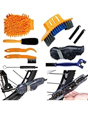 8 stuks fiets reinigingsgereedschap set, fiets ketting reiniger, fiets motorfiets reinigingskits gereedschap voor het reinigen van fiets ketting/kruk/band/tandwiel