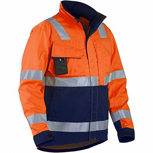 """Blakläder Jacke \""""High-Vis\"""" Klasse 3, 1 Stück, M, orange / marineblau, 406418115389M"""