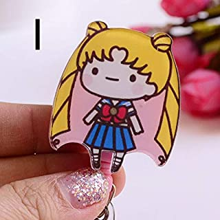 Badge Holder & Accessories - 1pcs cartoon girl Retractable Badge Reel Student Nurse Exihibiton ID Name Card Badge Holder O...