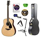 Yamaha FG830 Rosewood Acoustic Guitar with Knox Case,Stand,Strings,Tuner,Strap,Picks and DVD