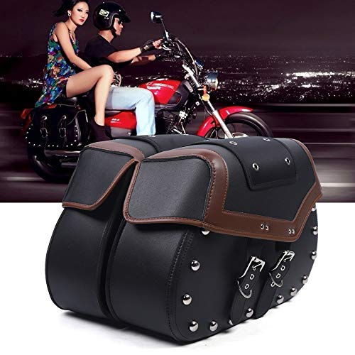 Par de alforjas de moto para equipaje, bolsa de herramientas de PVC,...