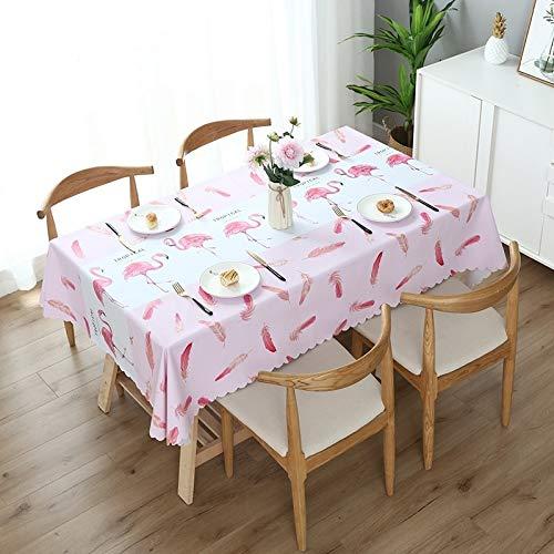Esshangmao. Kaffeetischdecke aus PVC wasserdicht, ölbeständig und Eisen fest Tischdecke (Color : Flamingo)
