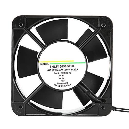 Ventilador de enfriamiento de 150 mm, sistema de enfriamiento del disipador de calor con rodamiento de bolas de bajo ruido para equipos industriales/horno/caja eléctrica/gabinete (220 V - 240 V)