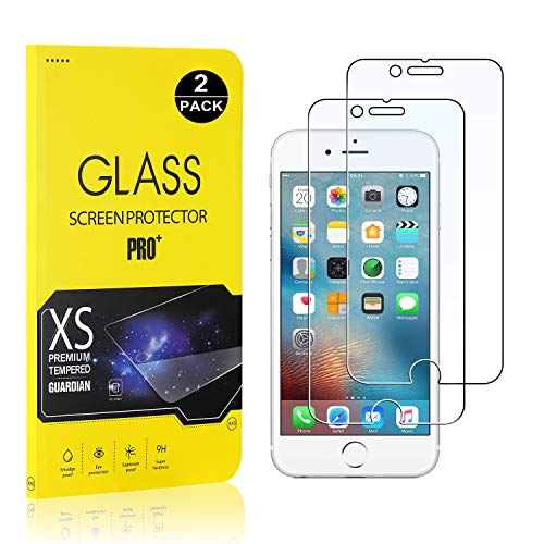 Screen Protector for iPhone 8 Plus/iPhone 7 Plus / 6S Plus / 6 Plus, Bear Village Tempered Glass Screen Protector, 9H Hardness Screen Protector Film for iPhone 7 Plus/iPhone 8 Plus - 2 Pack