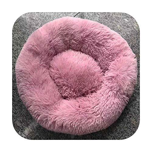 KASHINO Saco de dormir redondo de felpa, para perros pequeños, medianos y grandes, 80 cm de diámetro