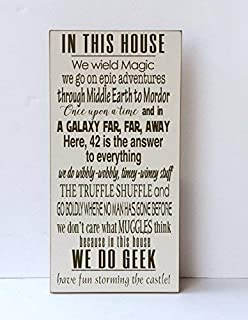 Adonis554Dan We Do Geek Wood Shield in This House We The Magic Epic Adventure Truffle Shuffle Middle Earth 42 Reply to All Muggles Shield 9x18