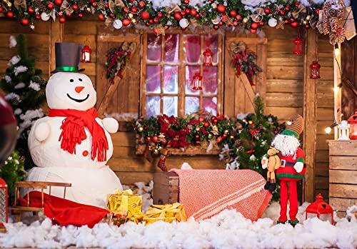 Fondo de fotografía de Fiesta de Tema navideño bebé recién Nacido niños Feliz año Nuevo Fondo de Foto de Navidad apoyos A4 7x5ft / 2.1x1.5m