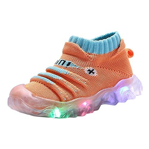 YWLINK Zapatos Luminosos Led NiñOs Y NiñAs Zapatos Casuales Transpirables Antideslizantes Zapatos Ligeros Calcetines Zapatos Comodo Zapatos Planos Zapatillas Luminosas Regalo De CumpleañOs Precioso