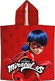 Miraculous Ladybug Kinder-Kaputzen-Bade-Poncho Rot 60 x 120 cm 100% Baumwolle Veloursqualität Pareo...