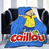 TECHSOURCE Caill-ou Merch Fuzzy Fluffy Plush Micro Soft Flannel Throw Blanket Fit Couch Chair Bed Sofa, Machine Washable 60x50 inch