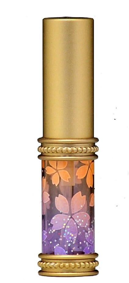 記念日フォルダ支店ヒロセアトマイザー メタルラメさくらアトマイザー 16178 OR/PU(メタルラメさくら オレンジ/パープル) 真鍮玉レット飾り付