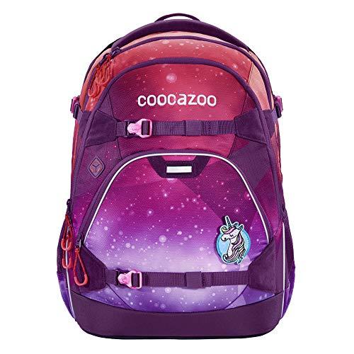 """coocazoo Schulrucksack ScaleRale """"OceanEmotion Galaxy Pink"""", lila, ergonomischer Tornister, höhenverstellbar mit Brustgurt und Hüftgurt, ab der 5. Klasse"""