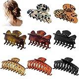 Lot de 8 pinces à cheveux pinces antidérapantes Design français Barrettes grands accessoires de cheveux de mode pour femmes filles