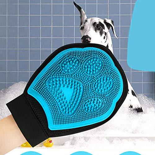 hmmsw Heimtierbedarf Reinigungsbürste Magische Handschuhe Haustier Hund Katze Massage Haarentfernung Kosmetikerin Bürsten Handschuhe