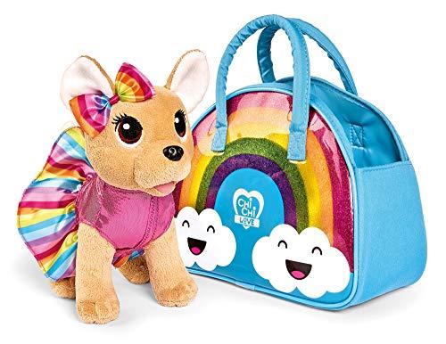Simba - Chi Chi Love Rainbow Peluche Cane Giocattolo Fashion con borsetta Arcobaleno, + 5 anni, 105893438