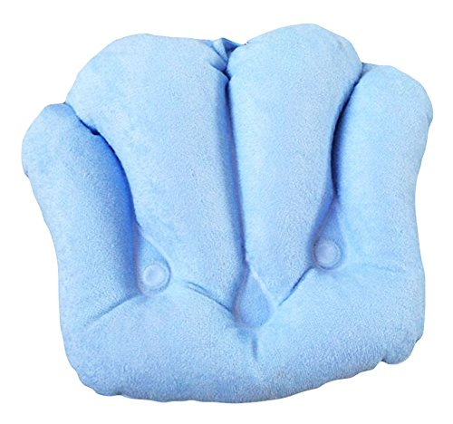 Gonflable en PVC Bath Spa Pillow serviette douce Tissu Soaker Tub Coussin-Bleu