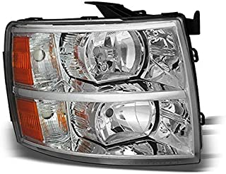 For 2007-2014 Silverado Passenger Side Replacement Headlight Chrome Right RH Front/2008 2009