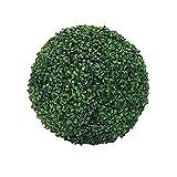 Artificial Topiary Ball, UV Protected 3 Layers Artificial Plant Topiary Ball Faux Boxwood Decorative Balls for Indoor, Outdoor, Garden, Wedding, Balcony, Backyard and Home Decor (Green -40cm)