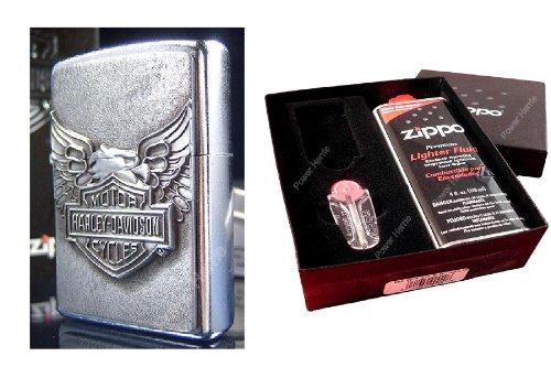 Zippo - Accendino Harley Davidson, Iron Eagle, set regalo