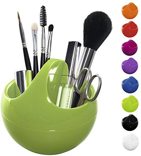 Spirella Kosmetikorganizer Bowl Aufbewahrungsbox für Make Up und Schmuck 10,5x9,5cm Grün