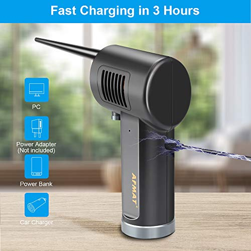 Cordless Air Duster for Computer, Better Choice for Air Can Duster, Compressed Air Can, Air Canister, Spray Air Duster for Computer, w/ 6000mAh Rechargeable Battery, 10W Fast Charging, 33000 RPM Photo #6