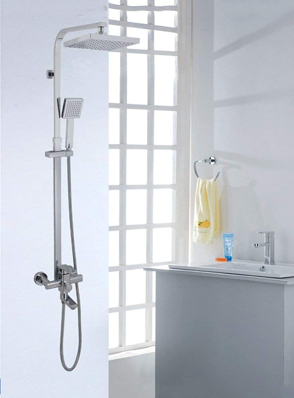 Brausegarnitur Sanitreinrichtung Kupfer Warm- und Kaltwasserdusche Set für Multifunktions-Badezimmer Dusche Greifer Handbrause für Wandmontage