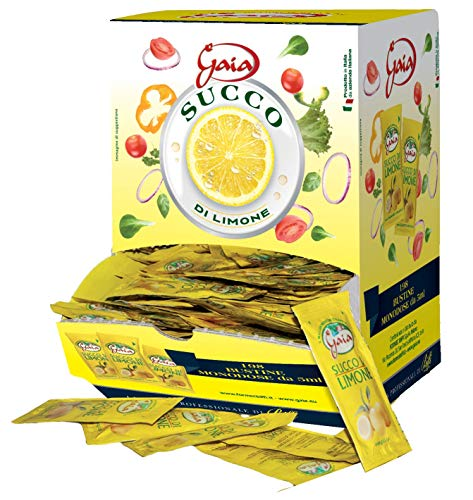 Gaia Succo di Limone - 198 Bustine Monodose da 5Ml - 990 Gr