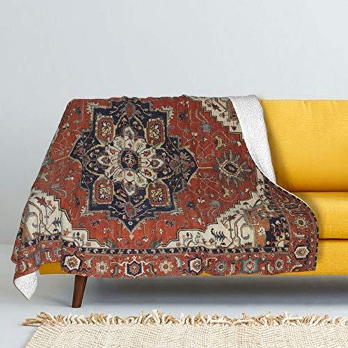 DPQZ Sherpa - Mantas de forro polar antiguas orientales turcas persas, rústicas, súper suaves, acogedoras, para todas las estaciones del año, cálida para sofá cama, 201 x 152 cm