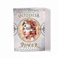 女神パワーオラクルカードタロットデッキカードは、フォーチュンゲームの神話の運命占いを読みます52カード、家族の友達のためのボードゲームトランプパーティーギフトゲーム