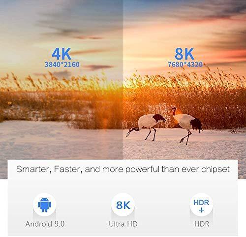 Android 9.0 TV Box,Smart TV Box 4 + 64GB Amlogic S905X3 Media Box, Unterstützung 8K/4K / BT4.0 / 2.4G + 5G Dual WiFi HDMI 3.0 Smart Media Player mit Fernbedienung