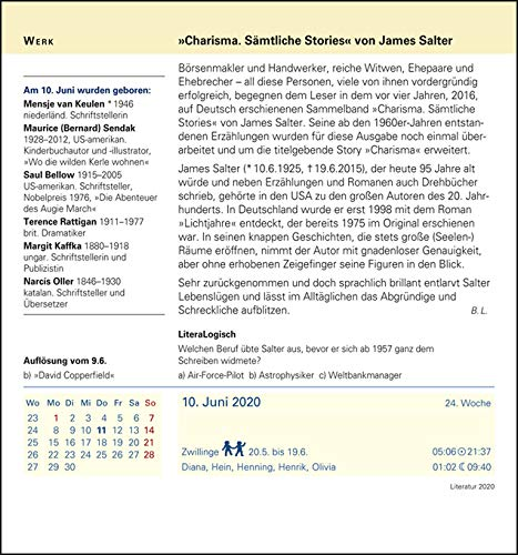 Harenberg Literatur – Kalender 2020 - 7
