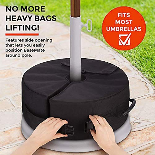 BCGT Round Weight Sand Bags Umbrella Base Stand Tent Leg Weighted Outdoor Sun Shelter Fixed Sandbag Camping Tool Accessories, Umbrella Stand Outdoor Base, Umbrella Base Stand