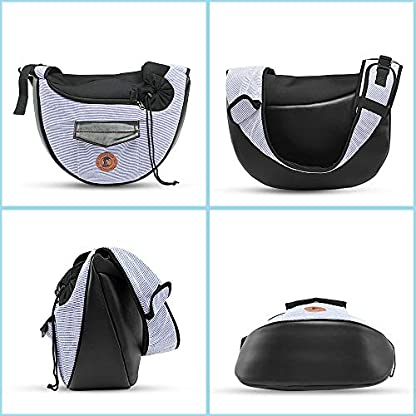 Zuukoo Pet Carrier, Dog Sling Bag Puppy Hands-free Sling Travel Carrier Bag with Adjustable Strap For Small Pets Perfect for Walking, Traveling or Daily Use 7