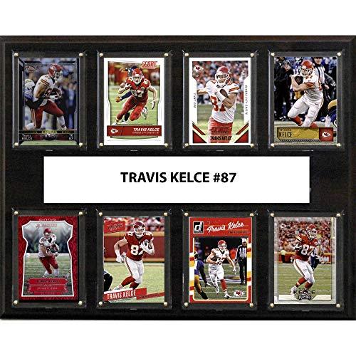 C&I Collectables NFL Kansas City Chiefs Men's Travis Kelce 8-Card Plaque, Brown
