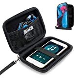 USA Gear Hard Shell iPod Travel Case Compatible with Apple iPod Touch (6th Generation, 5th Generation), iPod Nano with Protective EVA Design, Weather Resistant Exterior, Wrist Strap - Galaxy mp3 player for the Nov, 2020