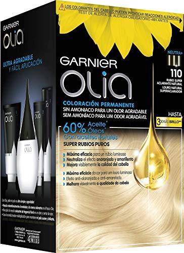 """OLIA COLORACIÃ""""N PERMANENTE 110 RUBIO SUPER ACLARANTE 4 PRODUCTOS #0881"""