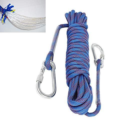 Climbing Rope Rock Climbing Rope Outdoor Climbing Rope 10M 32ft Static Rock Climbing Rope Escape Rope Ice Climbing Equipment Fire Rescue Parachute Rope Blue 3200