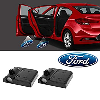 Meng Anna Ford Door Lights Logo Projector Led Car Door Shadow Puddle Welcome Courtesy Light for Ford F150 Ranger Mustang Expedition Explorer Fusion Escape Taurus Edge Fiesta Flex Focus Series